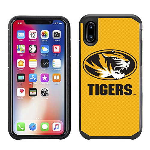 (Prime Brands Group Textured Team Color Cell Phone Case for Apple iPhone X - NCAA Licensed University of Missouri Tigers)