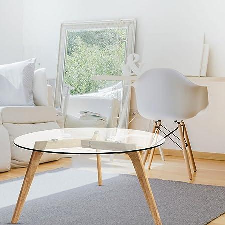 Ego Design Table Basse Ronde Bois Et Verre Island Amazon Fr