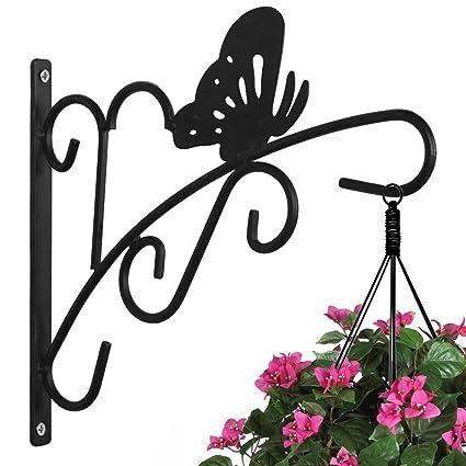 AMAGABELI GARDEN U0026 HOME Hanging Plants Bracket 11u0027u0027 Wall Planter Hook  Flower Pot Bird