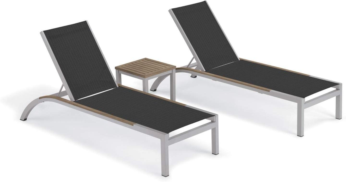 Oxford Garden 5777 Argento & Travira Furniture Set, Powder Coat Flint