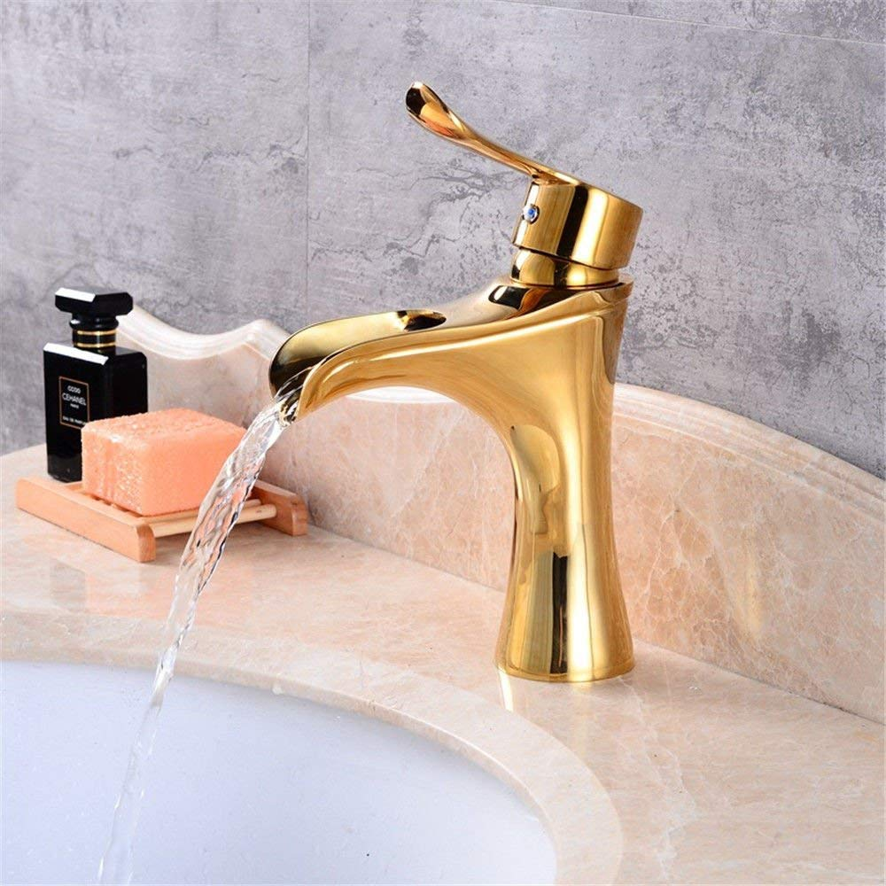 WMING HOME Sink Mixer Tap Bathroom Kitchen Basin Tap Leakproof Save Water Rise Whole Antique Copper