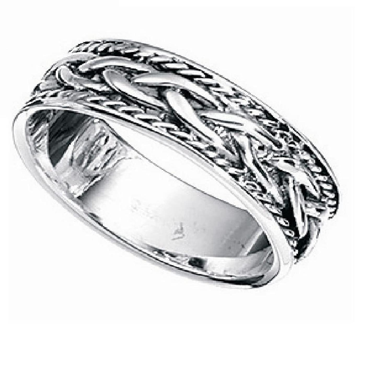 irish rings fit mens celtic of wedding ring new amazon knots tone best band two gold fort