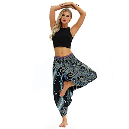 Amazon.com: Zcxaa Soft Women Sportswear Loose Yoga Jumpsuit ...