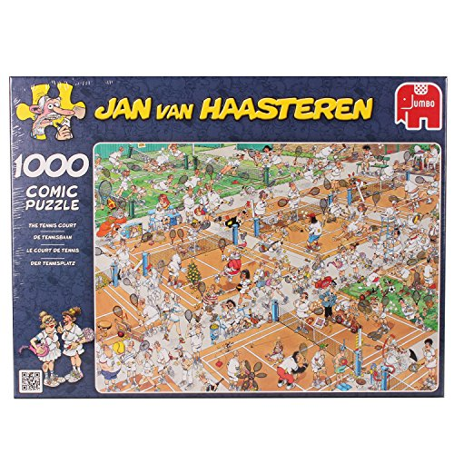 Jan Van Haasteren The Tennis Court Jigsaw Puzzle (1000 Pieces)