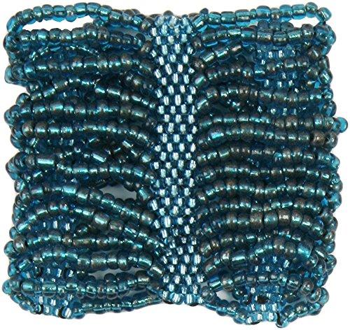 Aqua Beaded Stretch Bracelet - 8