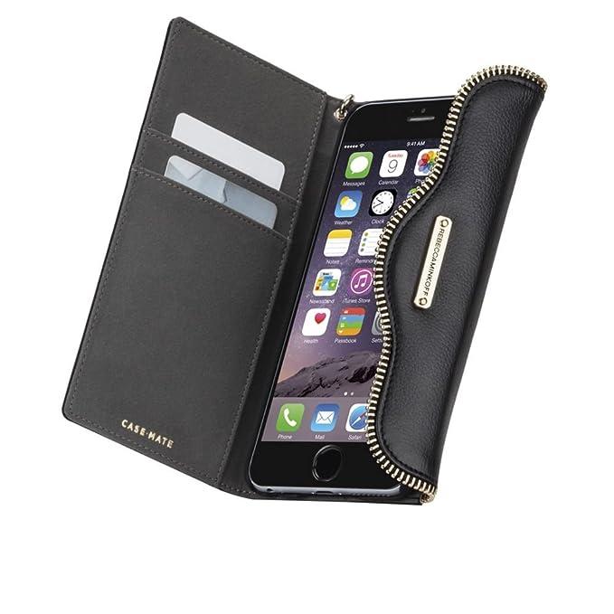 huge selection of b0e73 4af00 Rebecca Minkoff iPhone 6/6s Leather Folio Wristlet Black