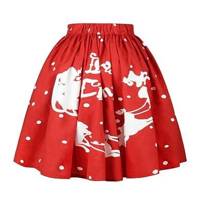 DEELIN Mujer Falda De Navidad, Moda De Las SeñOras De Navidad ...
