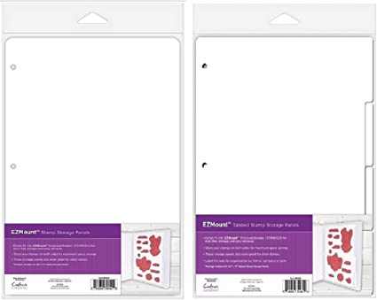 8.5 by 11-Inch 4-Pack Crafters Companion Tabbed Rubber Stamp Storage Panels