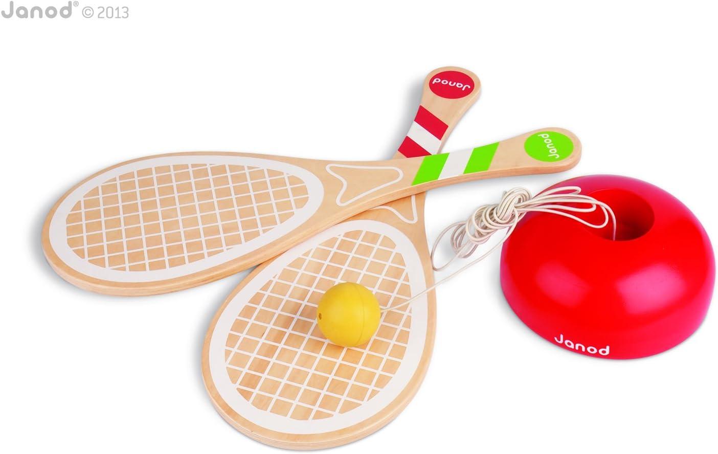 Janod 4503016 - Juego de tenis con raquetas de madera [importado ...