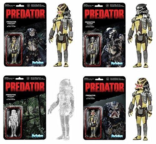 Predator (Set of 4) Funko ReAction 3 3/4-Inch Retro Action - Predator Set Figure