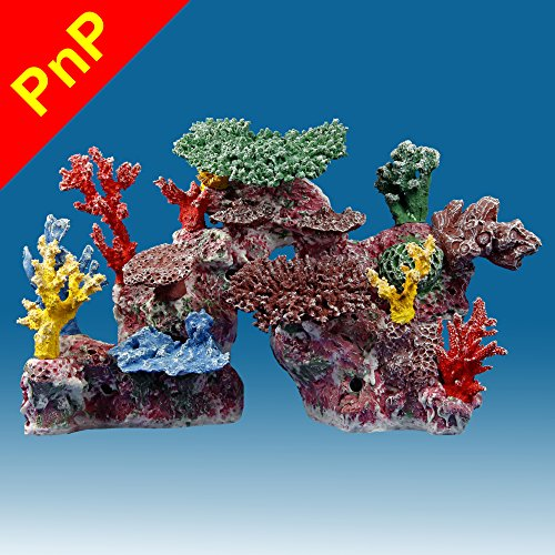 Instant Reef DM046PNP Large Artificial Coral Inserts Decor, Fake Coral Reef Decorations for Colorful Freshwater Fish Aquariums, Marine and Saltwater Fish Tanks