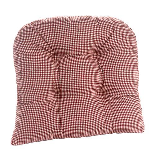 Klear Vu 847441-07 Gripper Mini Gingham Pad Chair Cushion, Red, 15