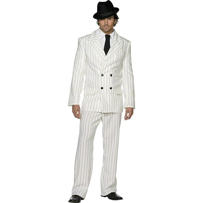 Diseño con traje blanco L 52/54 gángstersy disfraz Gangster ...