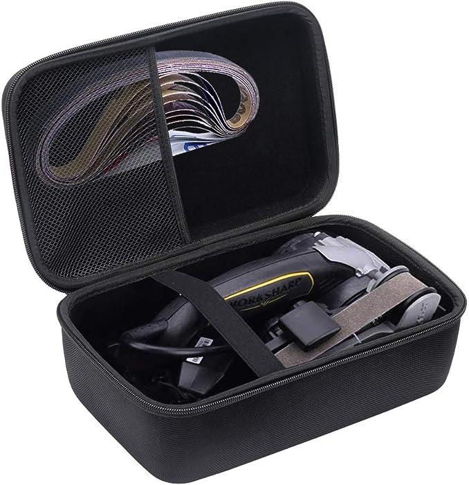 Brappo Hard Carrying Case for Work Sharp Knife & Tool Sharpener Ken Onion Edition (Black)