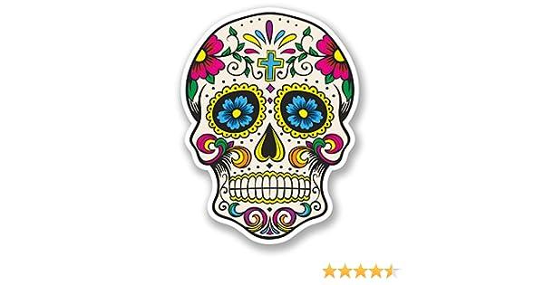 DestinationVinyl 2 x Calavera Vinilo Adhesivo, día de los Muertos Mexicana # 5667