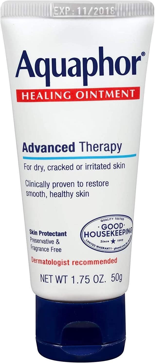 Aquaphor Healing Ointment - Protectant for Cracked Skin - Hands, Heels, Elbows, Lips, 1.75 oz, 5 Pack