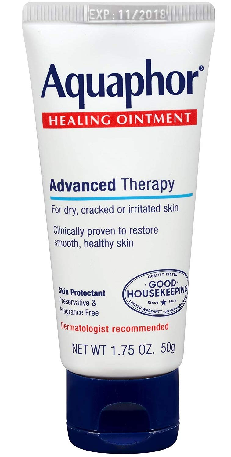 Aquaphor Healing Ointment - Protectant for Cracked Skin - Hands, Heels, Elbows, Lips, 1.75 oz, 2 Pack