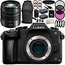 Panasonic Lumix DMC-G85 Mirrorless Micro Four Thirds Digital Camera with Panasonic Lumix G Vario 14-140mm f/3.5-5.6 ASPH. POWER O.I.S. Lens (White Box) 13PC Bundle – Includes 3 Piece Filter Kit (UV + CPL + FLD) + MORE