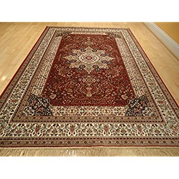 Amazon.com: Silk Traditional Turkish Design Rug 5x7 Rugs Silk 5x8 ...