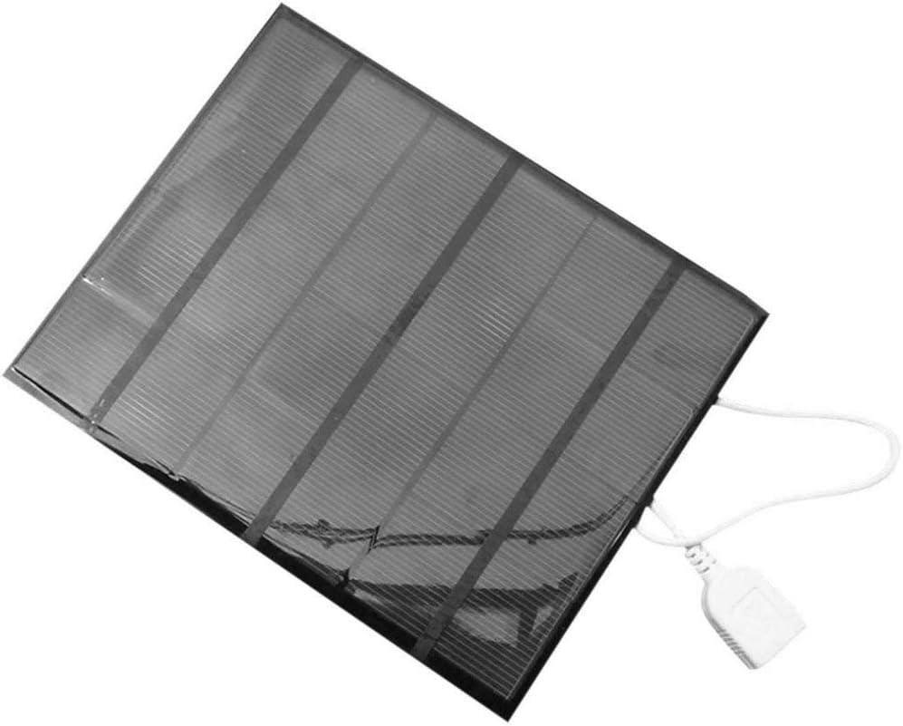 3.5W 6V USB Panel Solar Power Bank Cargador de bater/ía Externo Cargador de Bricolaje de Viaje al Aire Libre para Tableta de tel/éfono m/óvil; Negro Candybush