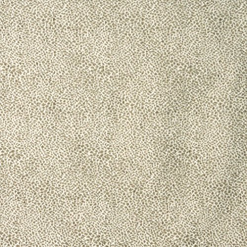E191 Beige Leopard Pattern Textured Woven Chenille Contemporary Upholstery Fabric by The ()