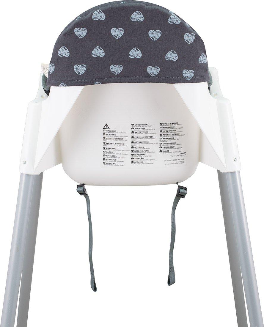 Coussin Pour Le Chaise Haute De Ikea Antilop Janabebe Black Rayo