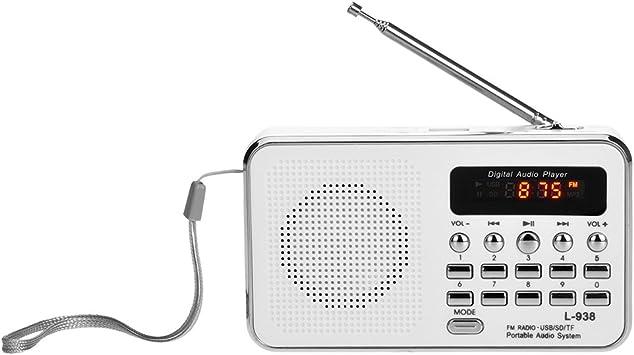 Mini Portable FM Radio Digital Stereo Speaker MP3 Audio Music Player USB//AUX//TF