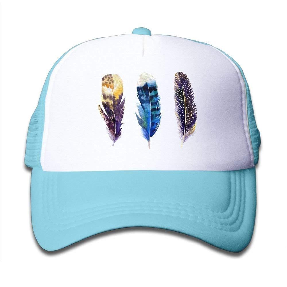 FEAIYEA Birds Feathers Colortone Baby Baseball Cap Infant Trucker Hat