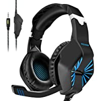 PECHAM Gaming Headset for Xbox One, PS4, PS3, Nintendo Switch,PC with Mic -Noise Cancelling Gaming Headphone for Cell Phone, Laptops, Computer (Blue)