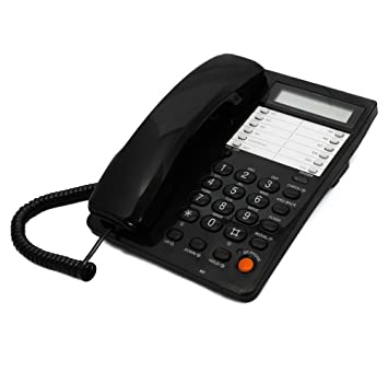 Black Caller ID Phone For Wall Or Desk With Speaker And Memory