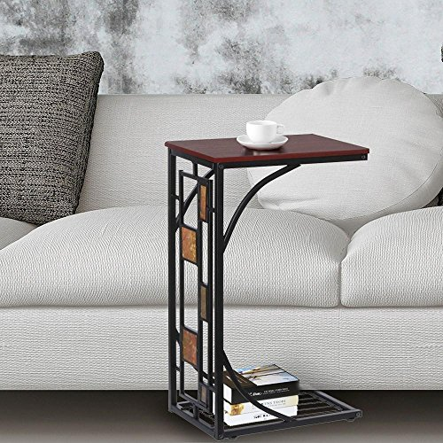 Yaheetech Living Room Sofa Side End Snack Table Tray Stand