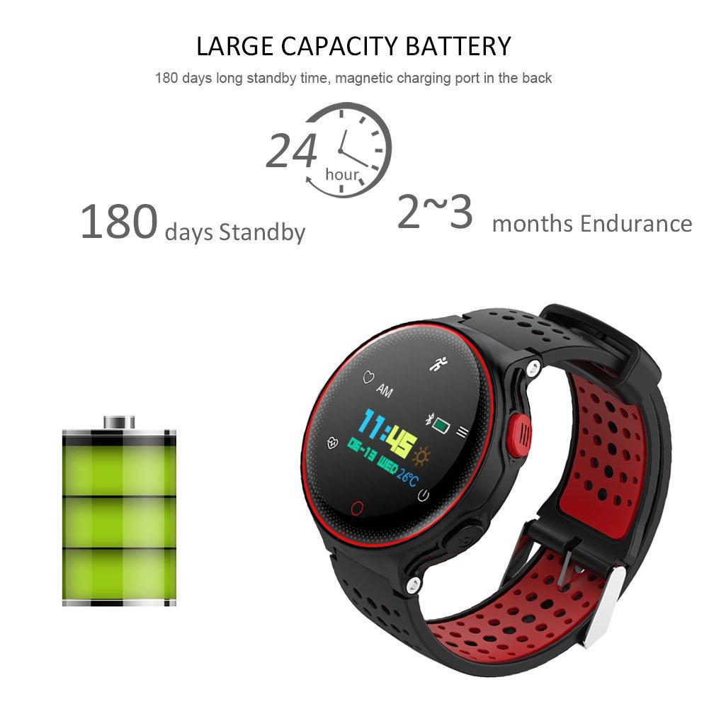 Smart Watch Qimaoo Reloj Inteligente Smart Watch Bluetooth 4.0 GPS WatchTracker IP68 impermeable de Natación Reloj Deportes Inteligentes Podómetro ,Sueño ...