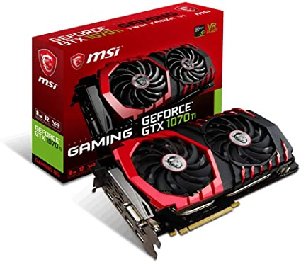MSI GeForce GTX 1070 Ti Gaming 8G Carte Graphique Nvidia GeForce GTX 1070 Ti  1607 MHz: Amazon.fr: Informatique