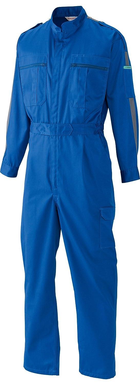 [サンディスク]SUN DISK【ツナギ服】通年 国内染色 帯電防止素材 中厚地タイプ ラインアクセント 長袖続服《044-34/36》 B01F4CO1WG S|36-ロイヤルブルー×グレーライン 36-ロイヤルブルー×グレーライン S