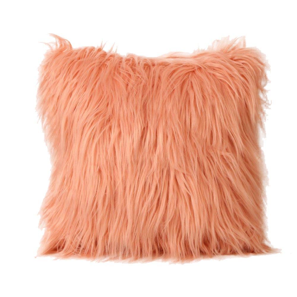 Kinlene Funda de cojín Furry de Felpa Funda de Almohada Throw Home Bed Room Sofa DecorKinlene Funda de cojín Furry de Felpa Funda de Almohada Throw ...