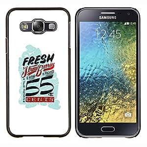 """Be-Star Único Patrón Plástico Duro Fundas Cover Cubre Hard Case Cover Para Samsung Galaxy E5 / SM-E500 ( Cents Retro Azul blanco Vintage frescas"""" )"""