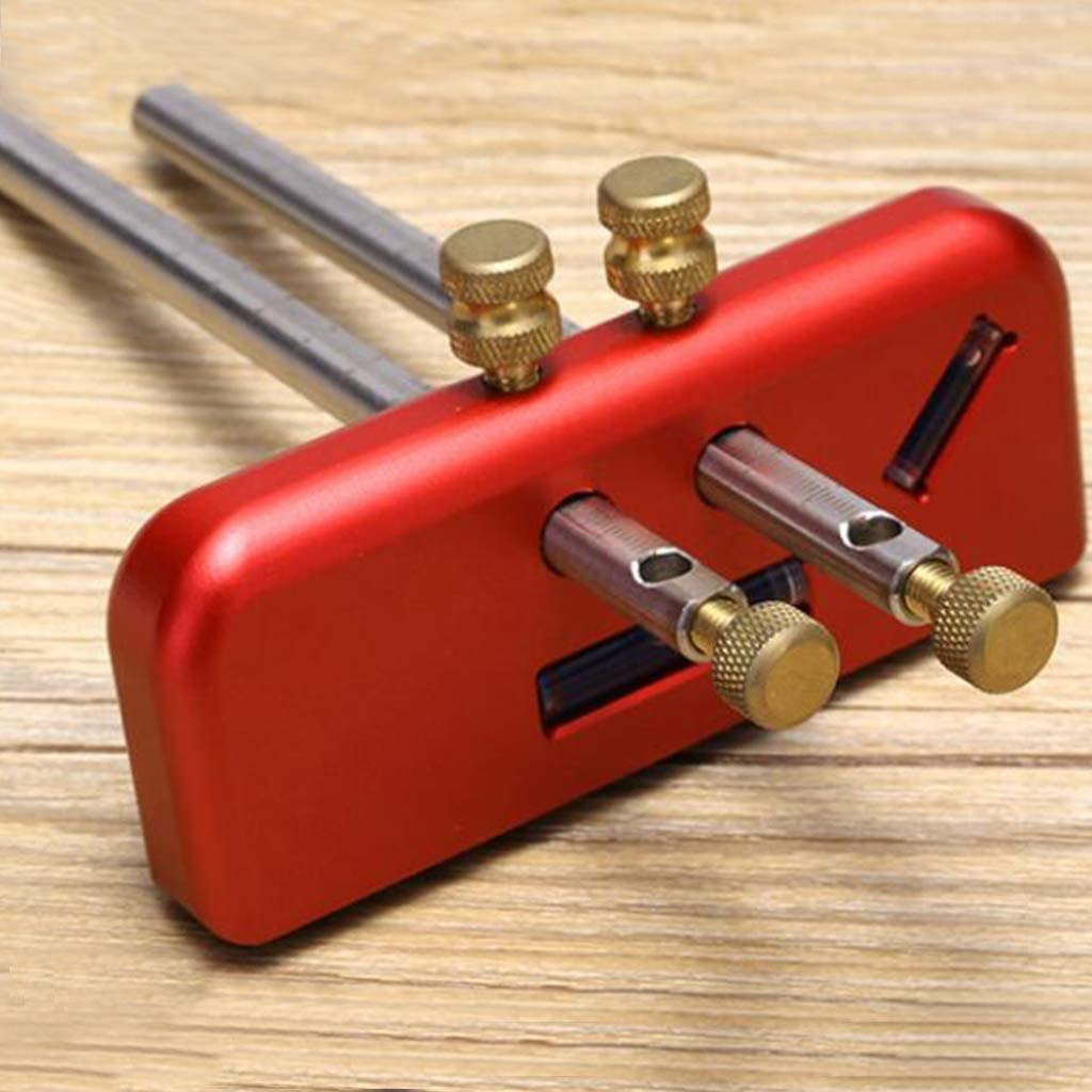 FLAMEER Adjustable Marking Gauge Wood Scribe Mortise Gauge DIY Woodworking Scribing Tool Aluminum Alloy