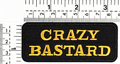 Amazon.com: Crazy Bastard Biker Ride Hippie Joke Funny Word ...