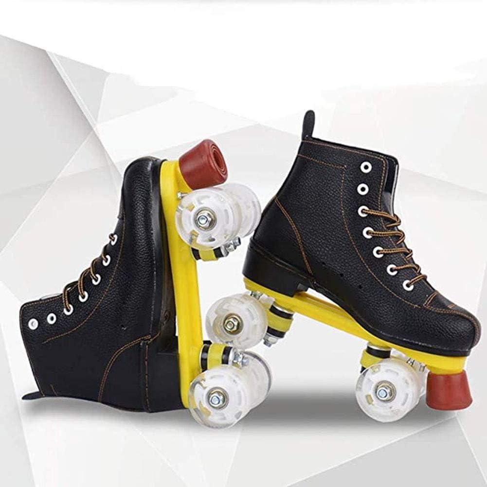 BHHT Patín Adulto Patines De Ruedas Paralelos Zapatos Bota Patines Doble Linea con PU 4 Ruedas para Zapatos De Ruedas para Niñas Y Niños Excelentes Regalos para Principiantes