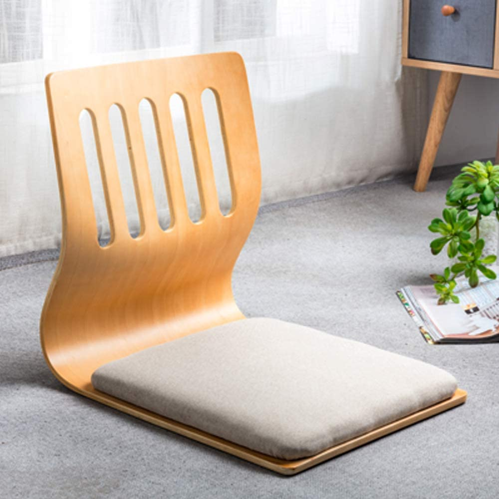 Game Chairs,Living Room Chair Japanese Legless Chair Bay Window Backrest Chair Lazy Chair Cushion,Floor Chair Lazy Sofa Game Meditation Floor Seating Floor Chairs with Back Support for Adults (M)