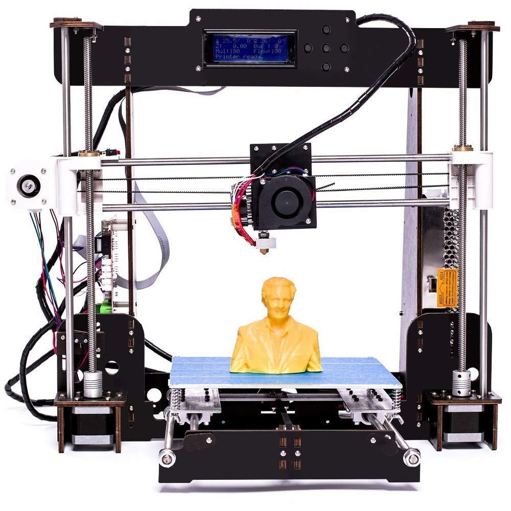 3D Drucker, CTC A8-W5 Pro Aviation Holz LCD-Bildschirm Desktop DIY 3D-Drucker Selbstmontage Druckmaschine Kit mit 1.75mm ABS/PLA Drucker Filament (Plattformgrö ß e 200 * 200 * 180mm) (DIY 3D Drucker)