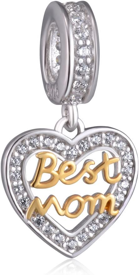 European Silver Charms Crystal Beads CZ Pendant Fit 925 Sterling Bracelets Gifts