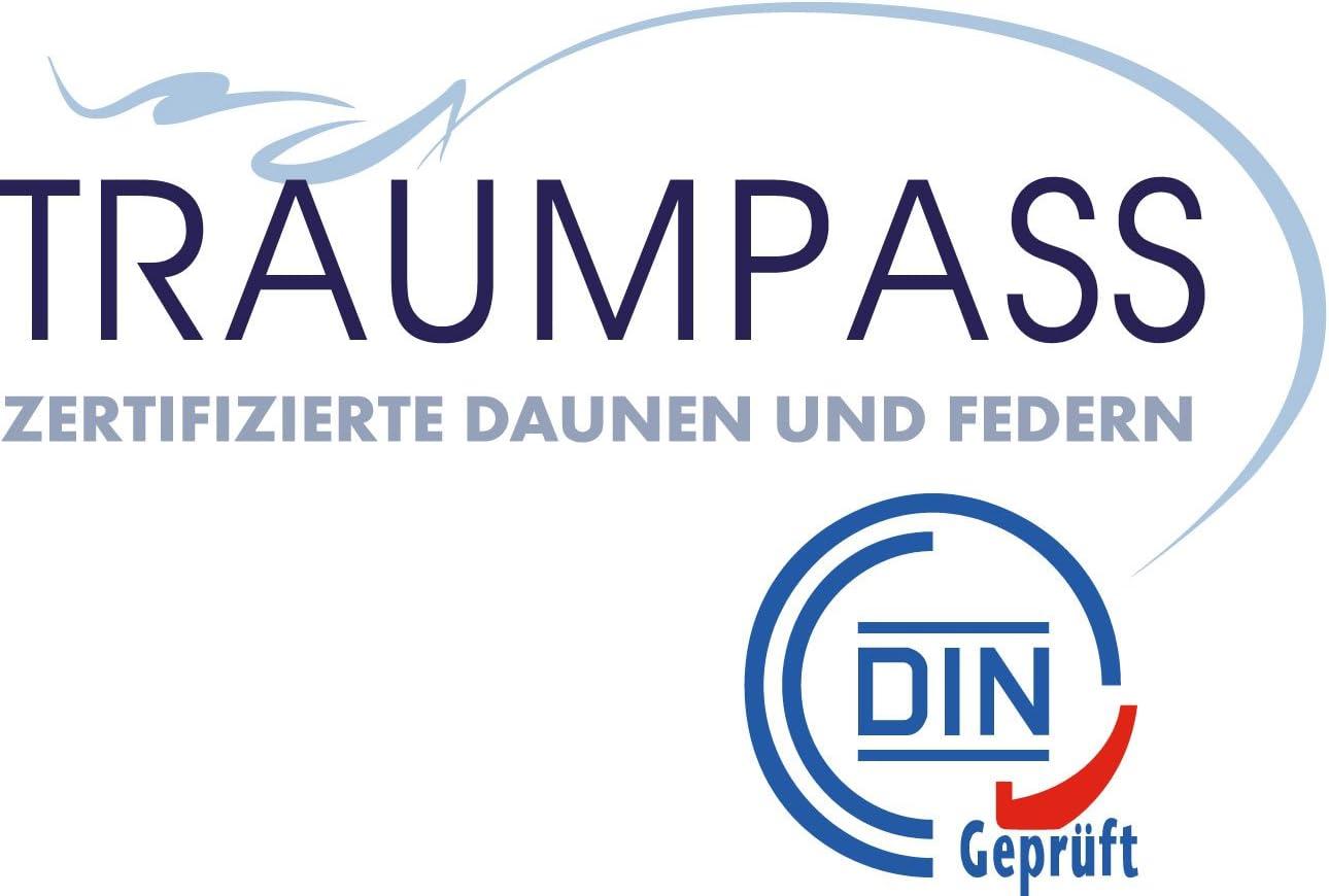 40x80 400g normal Moon Luxury G/änsefeder Kopfkissen Kissen 90/% Feder 10/% Daune deutsches Qualit/ätsprodukt Traumpass Zertifiziert