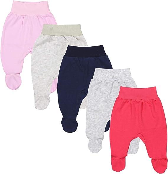 TupTam Unisex Baby Strampelhose mit Fu/ß 5er Pack