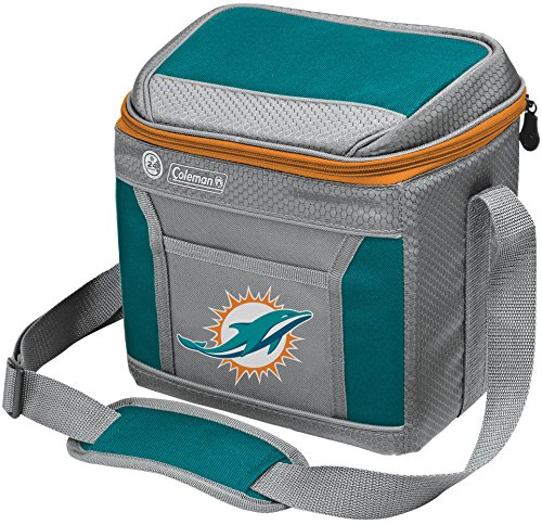 Coleman NFL Soft-Sided Insulated Cooler Bag, 9-Can Capacity with Ice, Miami ()