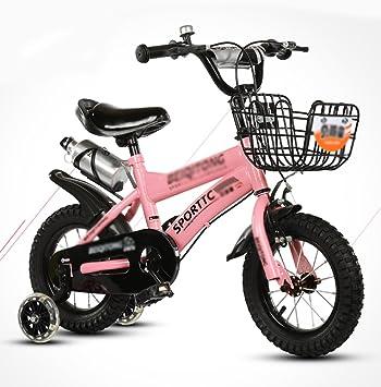 DWW-bicicleta niños bicicleta Rueda de flash de acero de alto carbono Ajustable antideslizante amortiguación paseo saldo al aire libre Bicicleta para niños ...