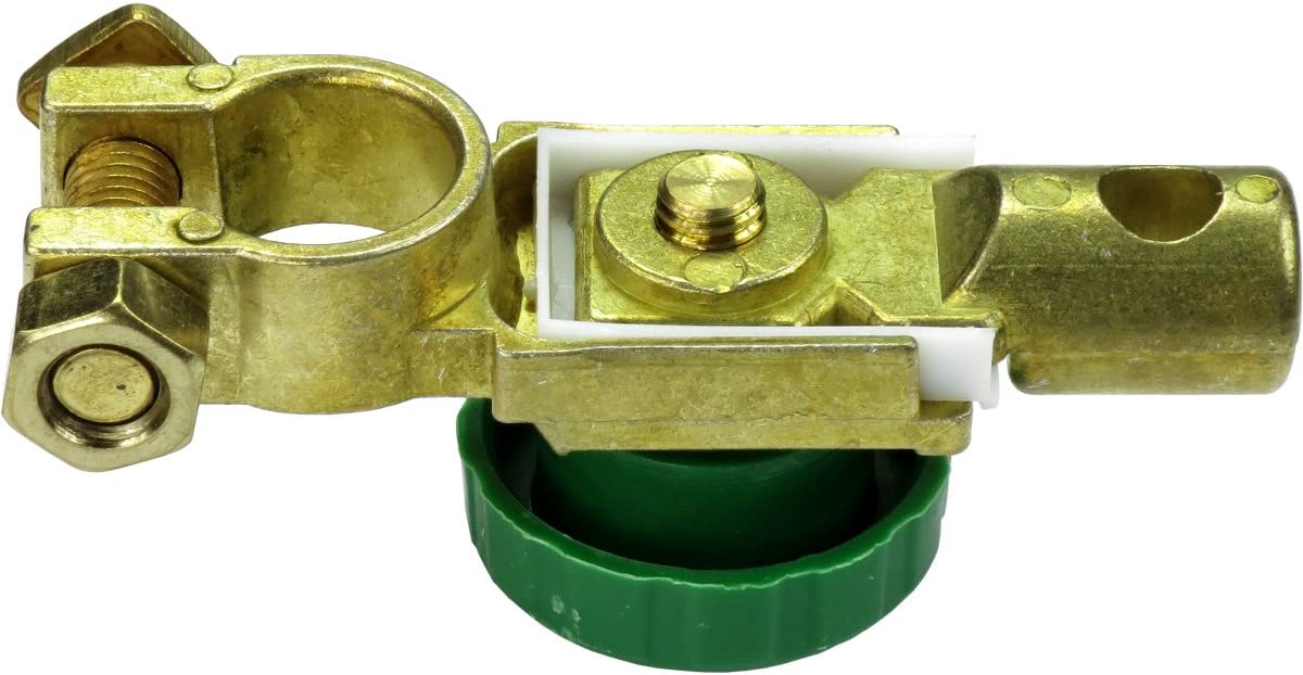 HTS 290B0 Swan-Style Brass Battery Disconnect for Negative Terminal