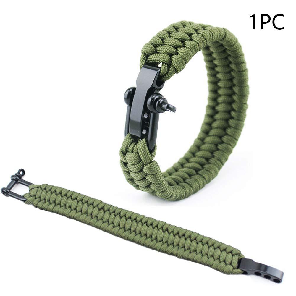 hebilla de cuerda de paraca/ídas para senderismo Pulsera de supervivencia con cuerda de paraca/ídas kit de supervivencia con encendedor de fuego rascador