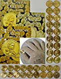 Complete Set Sacagawea Dollars with (3) Harris Folders + BONUS 2000 to Date Uncirculated 36 coins - 2017