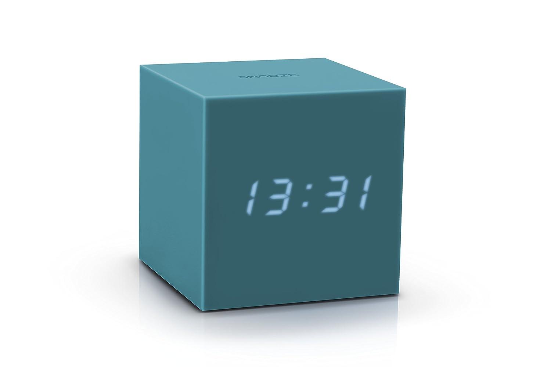 gingko gravity cube click clock  teal gktl amazoncouk  - gingko gravity cube click clock  teal gktl amazoncouk kitchen  home